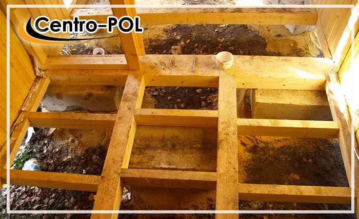 как сделать деревянный пол в бане