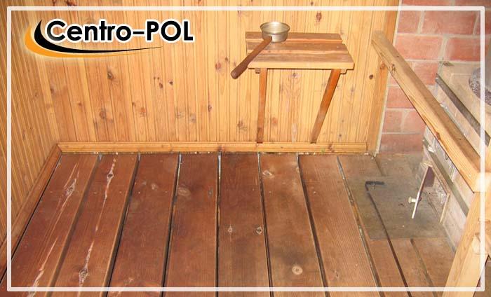 пол в моечном отделении деревянной бани