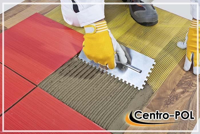 Дополнительное армирование клеевого слоя монтажной сеткой для керамогранита