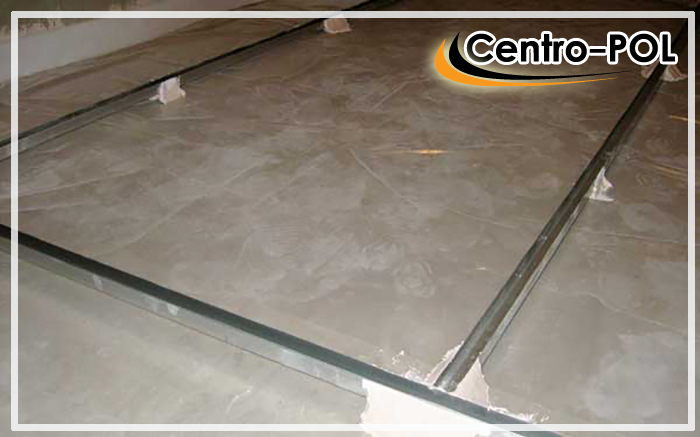полы на бетонных плитах