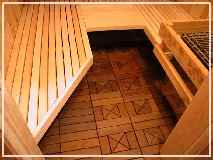 как сделать деревянные полы в бане