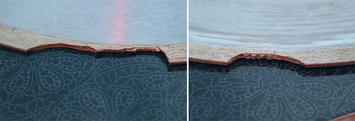 пример сломанного диска от перегрева