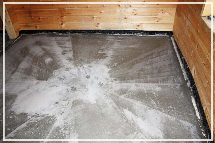 полы по грунту в бане