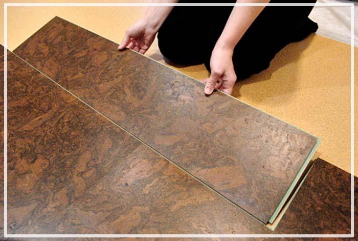 Cork flooring tile