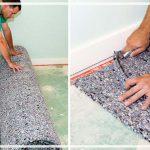 как стелить ковролин на линолеум