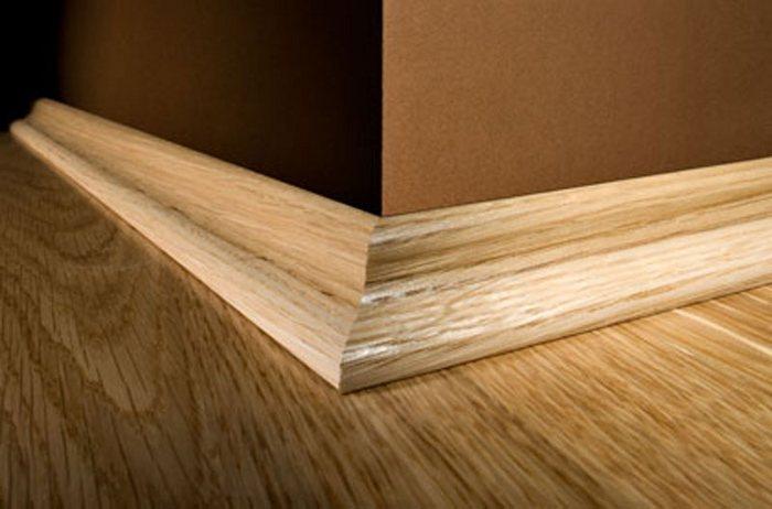 деревянный плинтус для пола высокий