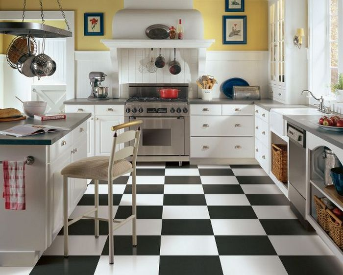 пол на кухне что выбрать