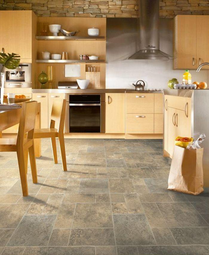 пол на кухне плитка или линолеум