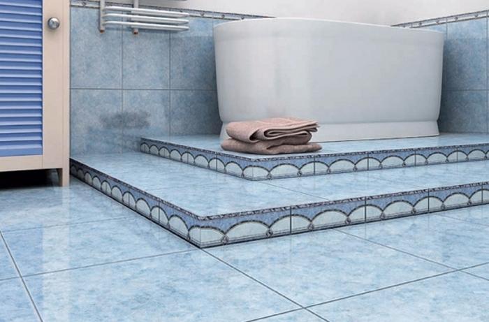 плитка на пол ванны