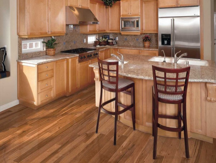 пол на кухне линолеум фото