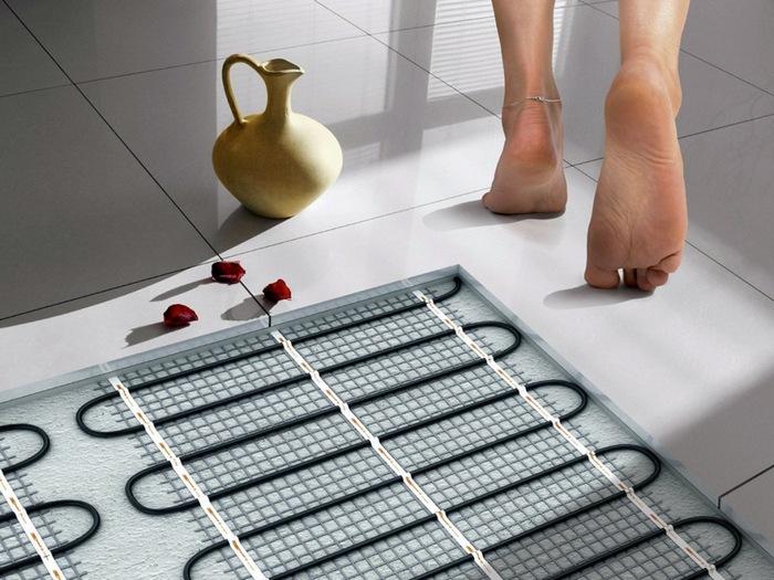 как сделать водяной теплый пол в ванной