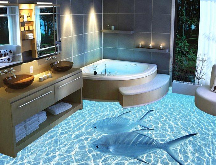 наливной пол в частном доме