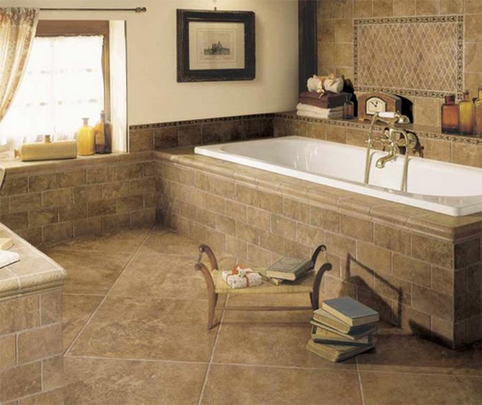 как сделать пол в ванной комнате