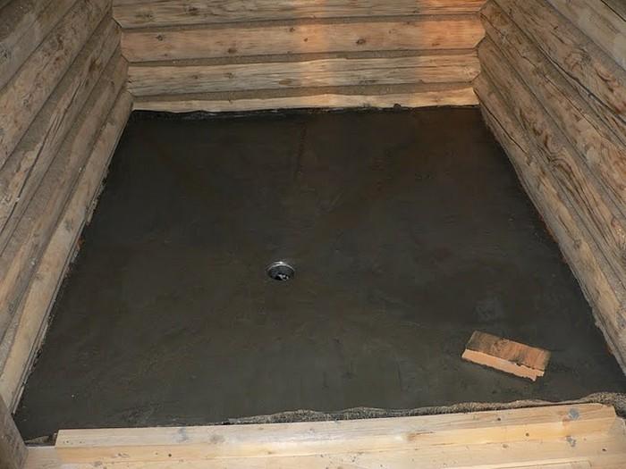 покрытие для пола в ванной в деревянном доме