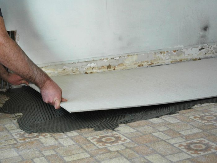 укладка цементно-стружечных плит