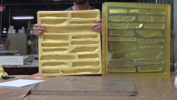 изготовление формы для искусственного камня