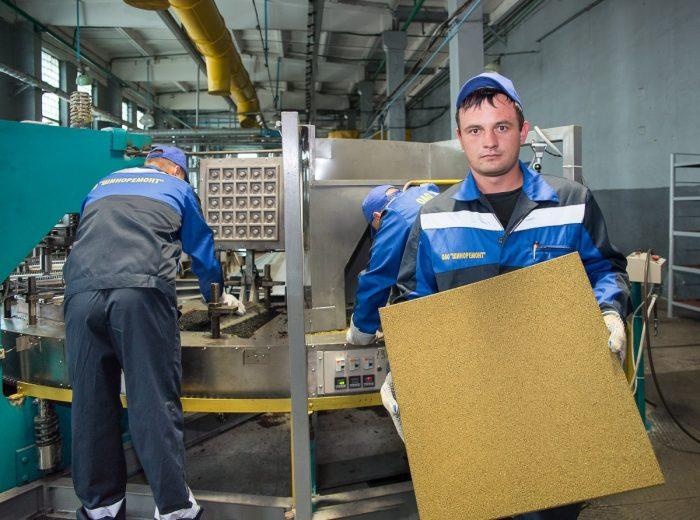 технология изготовления резиновой плитки