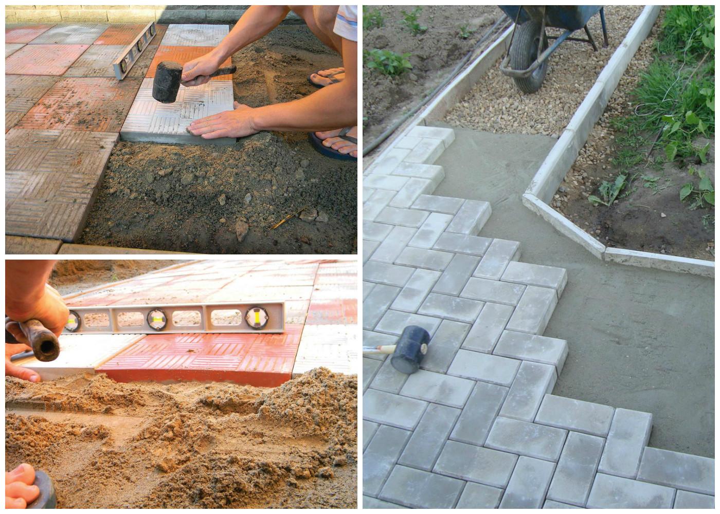 Укладка тротуарной плитки на цемент своими руками пошаговая инструкция 45
