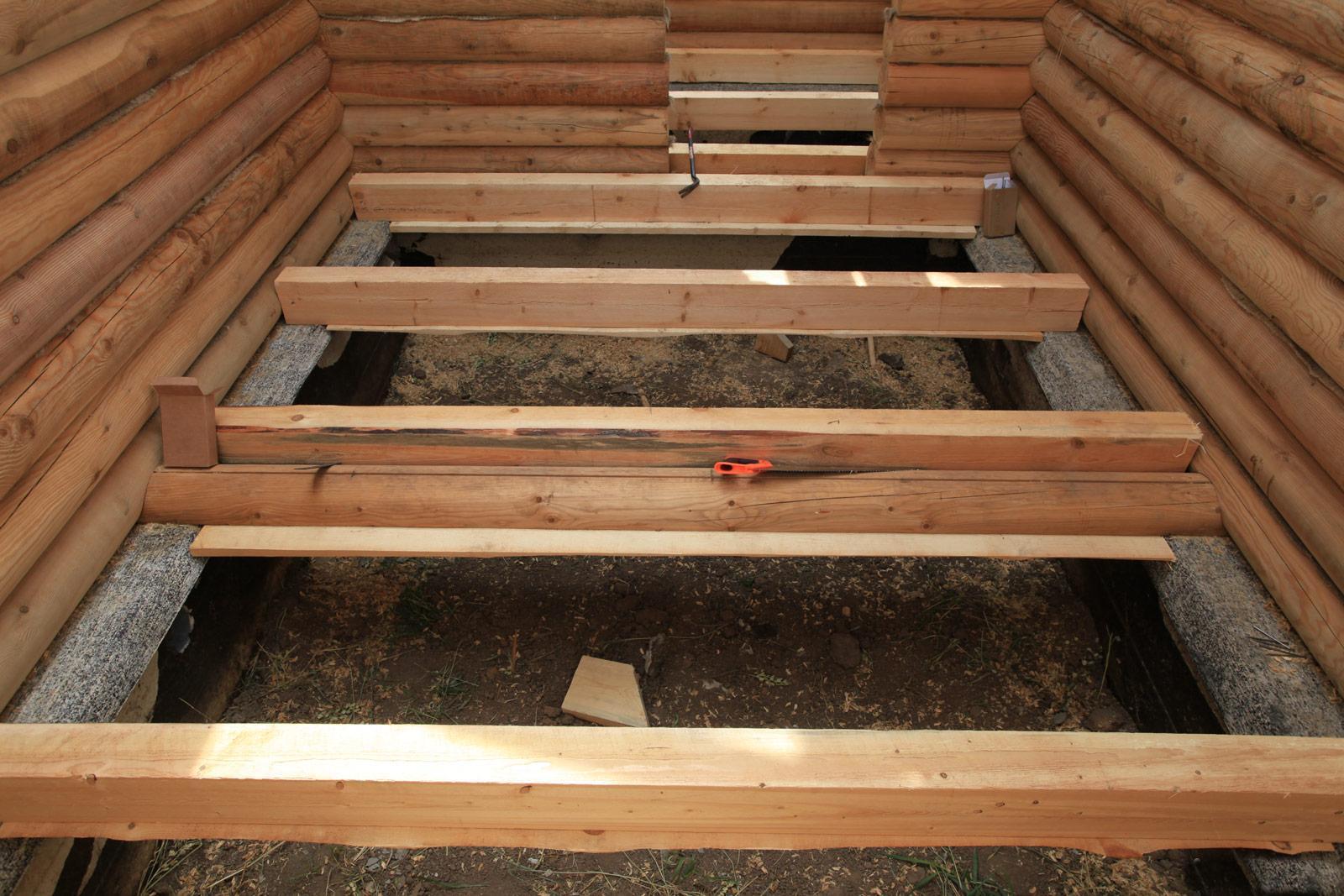 Ванная комната в деревянном доме 89