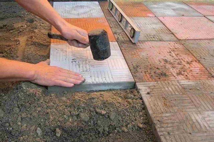 Сделать форм для тротуарной плитки своими руками 49
